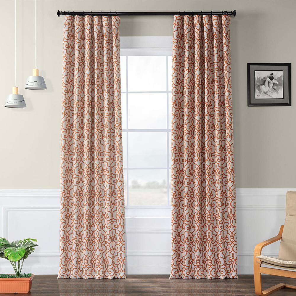 Semi-Opaque Nouveau Tan Blackout Curtain - 50 in. W x 84 in. L (Panel)