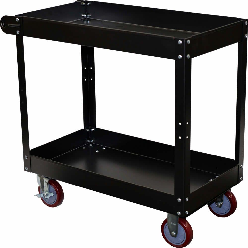 metal storage cart storage concepts economy 2 tier steel service cart 220 23289