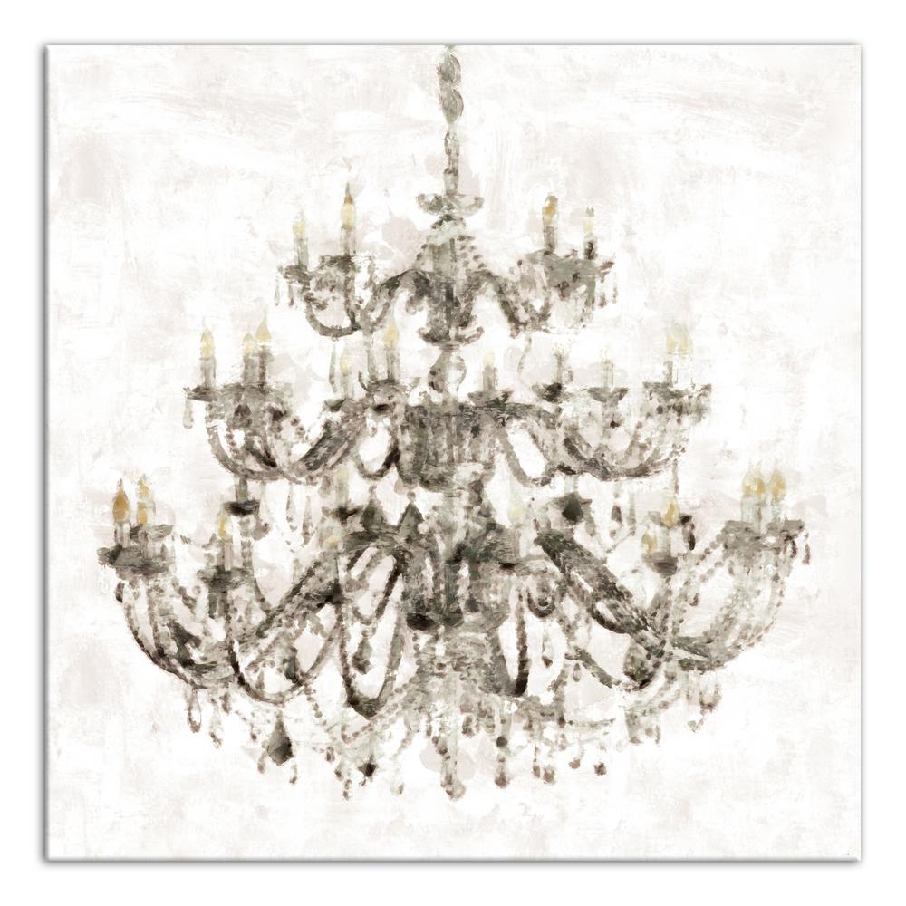 Ont Chandelier Printed Canvas Wall