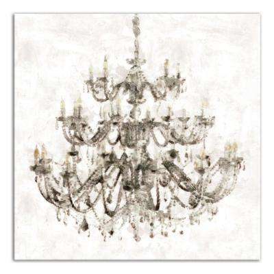 """30 in. x 30 in. """"Opulent Chandelier"""" Printed Canvas Wall Art"""