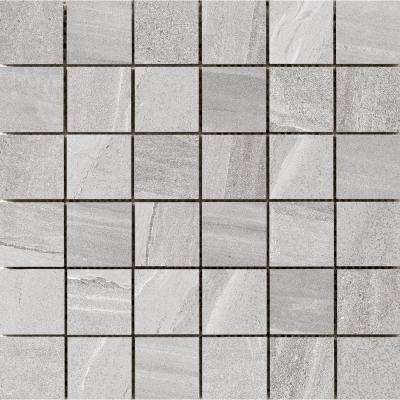 Access Tour 11.73 in. x 11.73 in. x 9mm Porcelain Mesh-Mounted Mosaic Tile