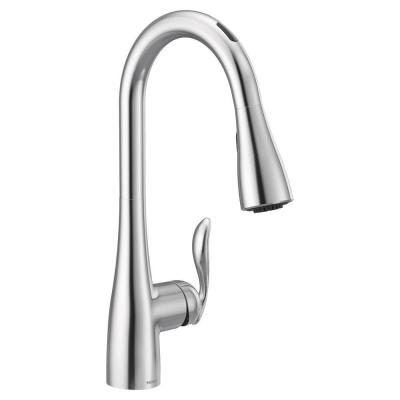 U by Moen Arbor Single-Handle Pull-Down Sprayer Smart Kitchen Faucet with Voice Control and Power Boost in Chrome