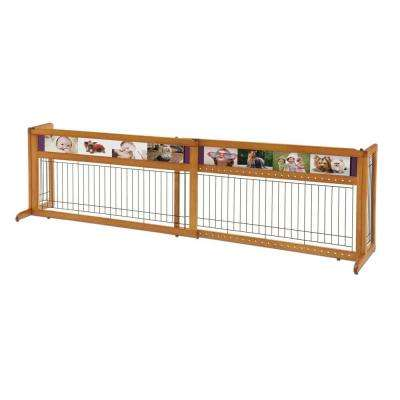 40.9 in. to 71.3 in. Wood Picture It Here Freestanding Pet Gate