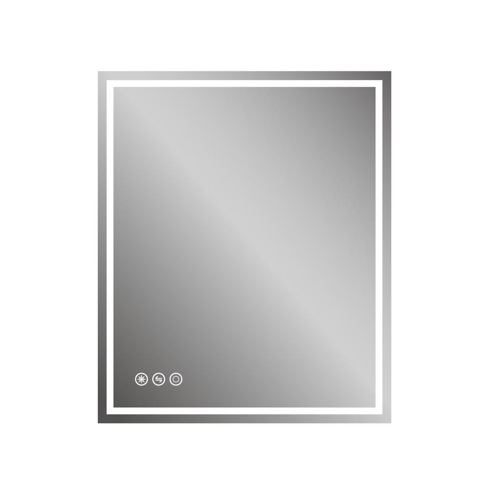 30in x 36in Led Frameless Bathroom Wall Mirror