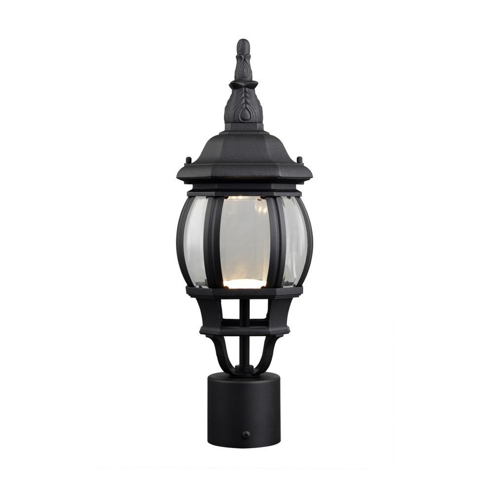 Canterbury II 13.2-Watt 1-Light Outdoor Black Integrated LED Post Light
