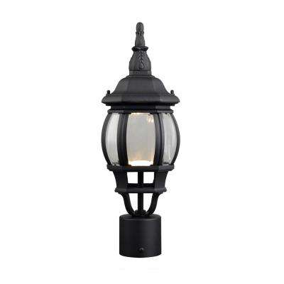 Canterbury II 13.2-Watt 1-Light Outdoor Black Integrated LED Post Light