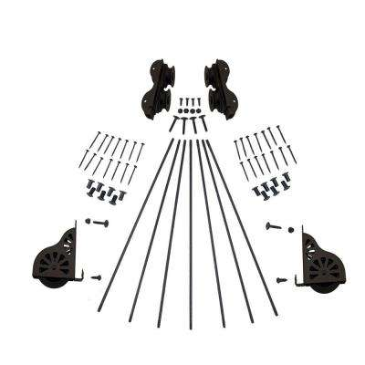 Oil Rubbed Bronze Rolling Ladder Hardware Kit