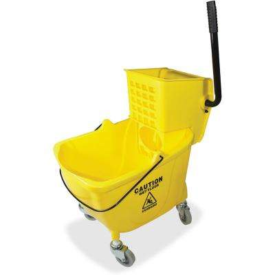 8.75 Gal. Yellow Mop Bucket with Wringer