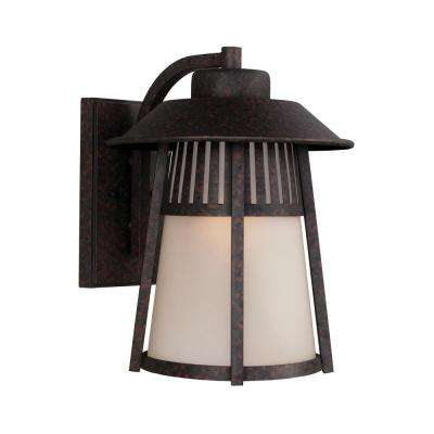 Hamilton Heights 1-Light Oxford Bronze Outdoor Wall Mount Lantern with LED Bulb