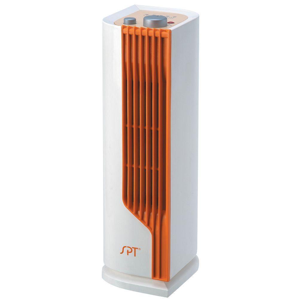 SPT 13 3/4 inch 1200 - Watt Mini Tower Ceramic Heater by SPT