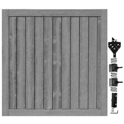 6 ft. W x 6 ft. H Ashland Nantucket Gray Composite Privacy Fence Gate