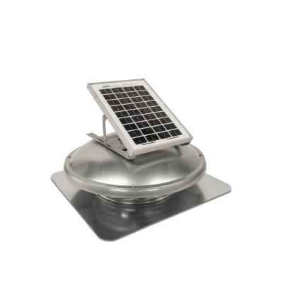 500 CFM Silver Galvanized Steel Solar Powered Attic Fan