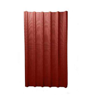 6V 3.33 ft. x 6-1/2 ft. Asphalt Roof Panel in Red