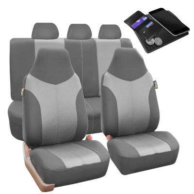 Supreme Twill Fabric 47 in. x 23 in. x 2 in. Universal Fit Full Set Car Seat Covers