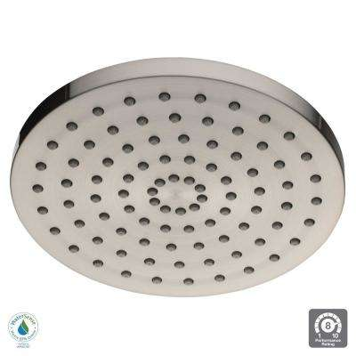 1-Spray 8 in. Round Raincan Showerhead in Brushed Nickel