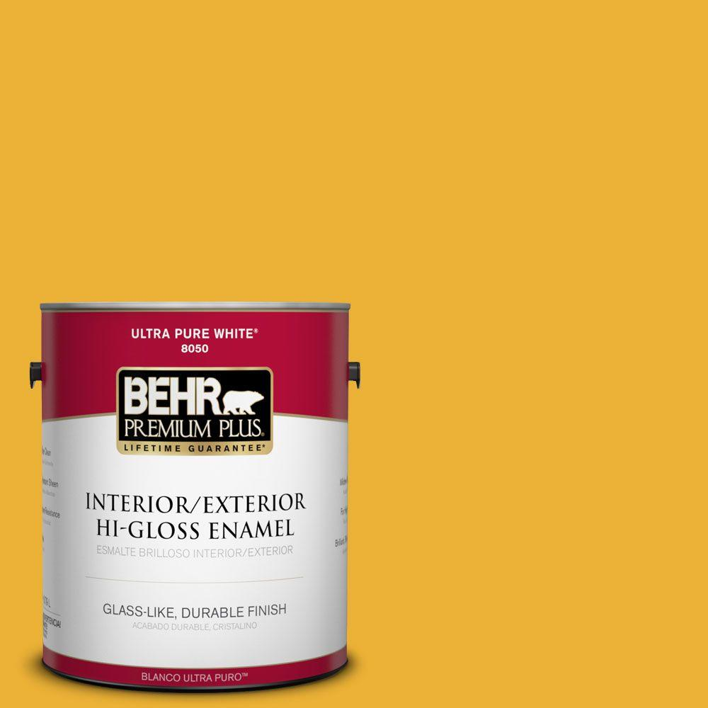 1 gal. #P280-7 Midsummer Gold Hi-Gloss Enamel Interior/Exterior Paint