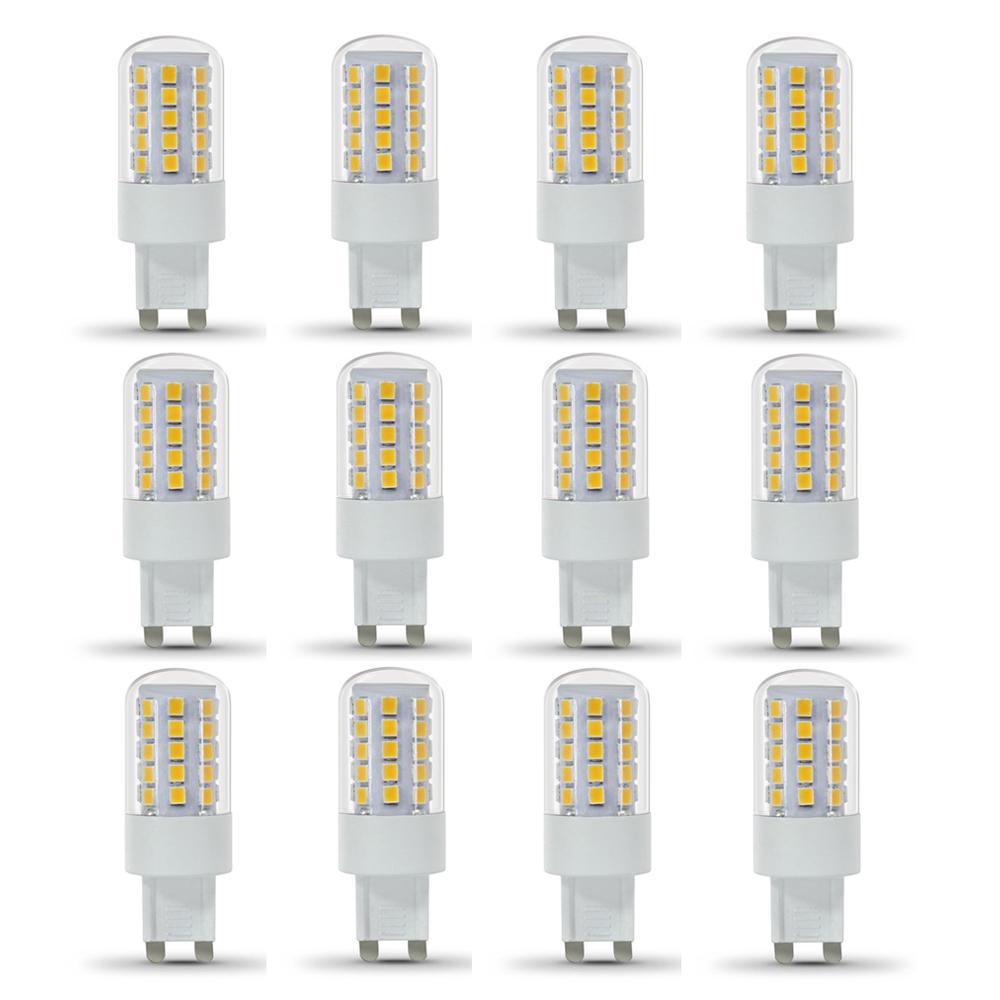 40-Watt Equivalent Warm White (3000K) G9 Bi-Pin LED Light Bulb (12-Pack)