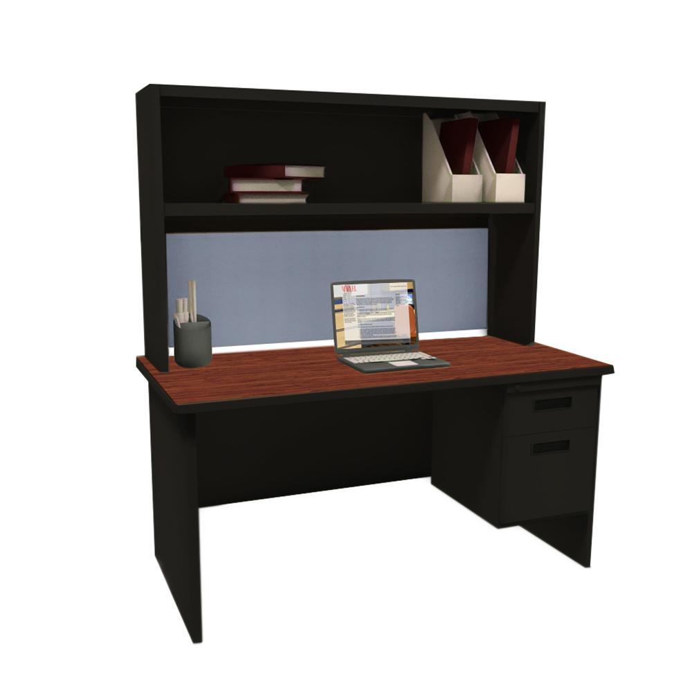 Pronto Mahogany Basin Single File Desk Storage Shelf Mahogany