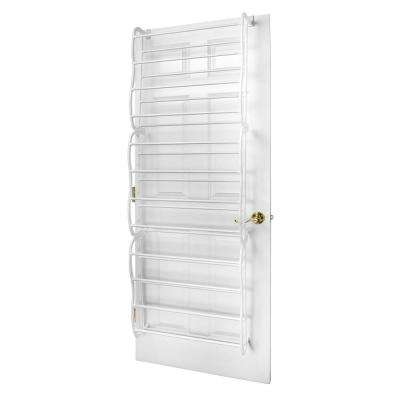 36-Pair White Shoe Organizer
