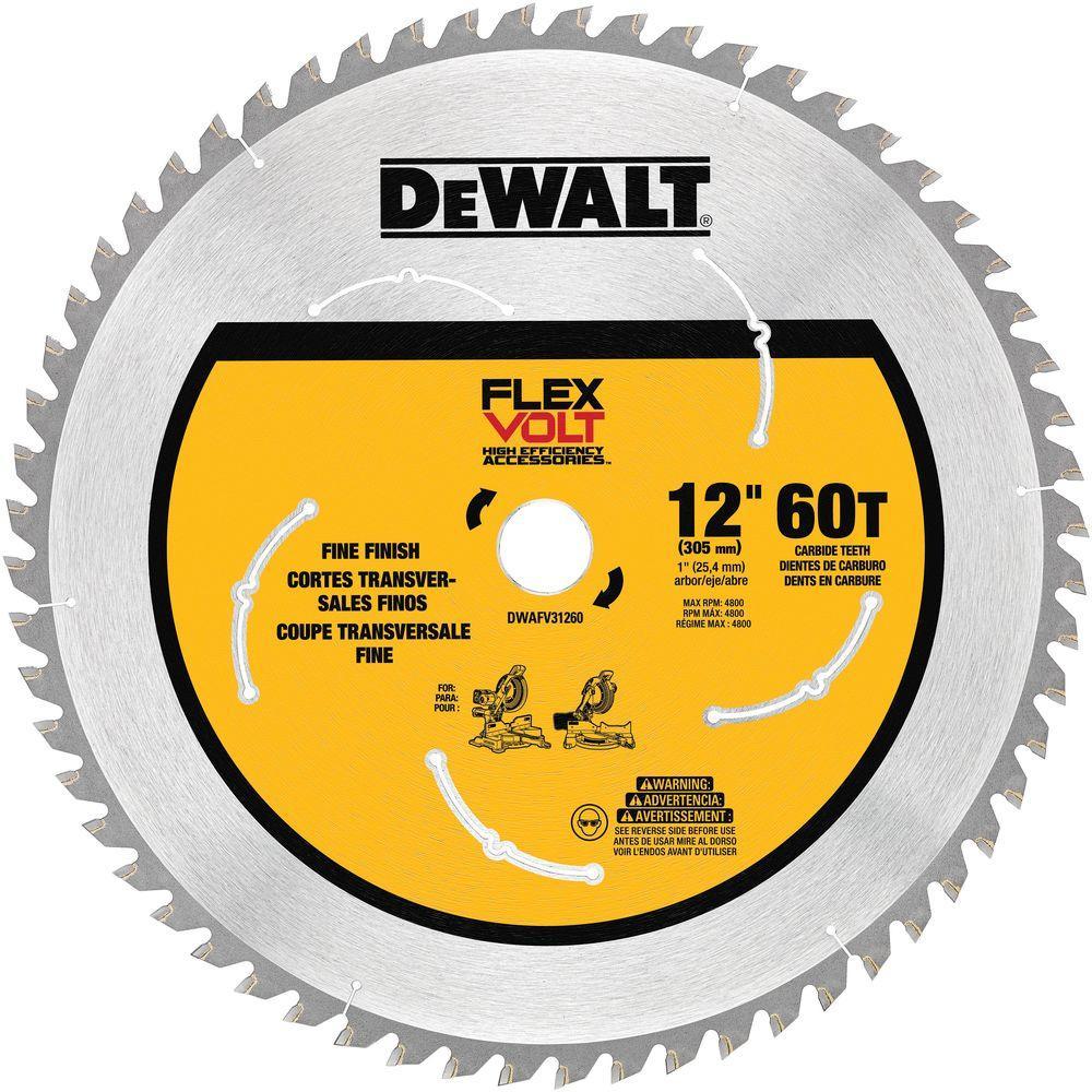 FLEXVOLT 12 in. 60-Teeth Carbide-Tipped Miter Saw Blade