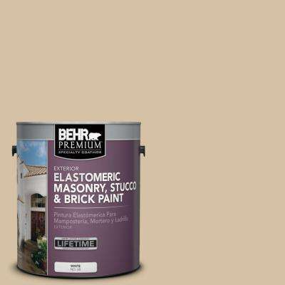 1 gal. #MS-22 Dune Elastomeric Masonry, Stucco and Brick Exterior Paint
