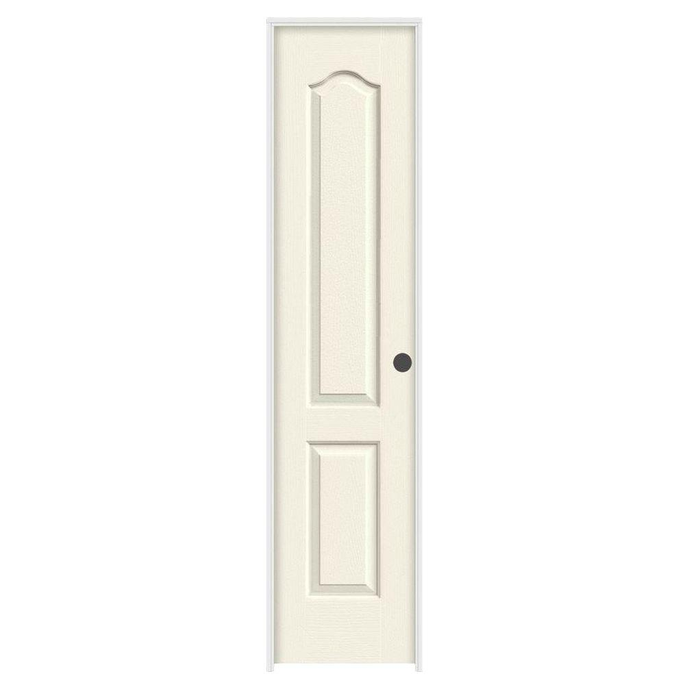 Jeld wen 18 in x 80 in camden vanilla painted left hand for 18 x 80 french door