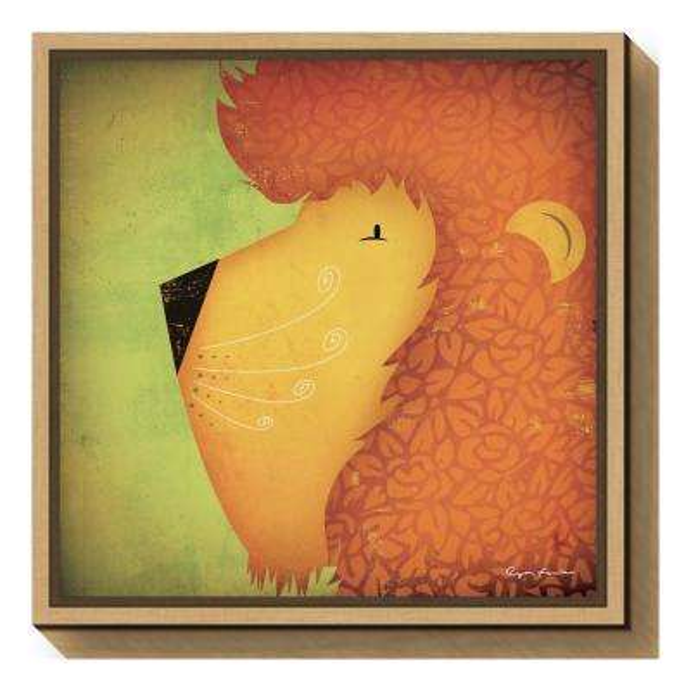 """Lion WOW"" by Ryan Fowler Framed Canvas Wall Art"