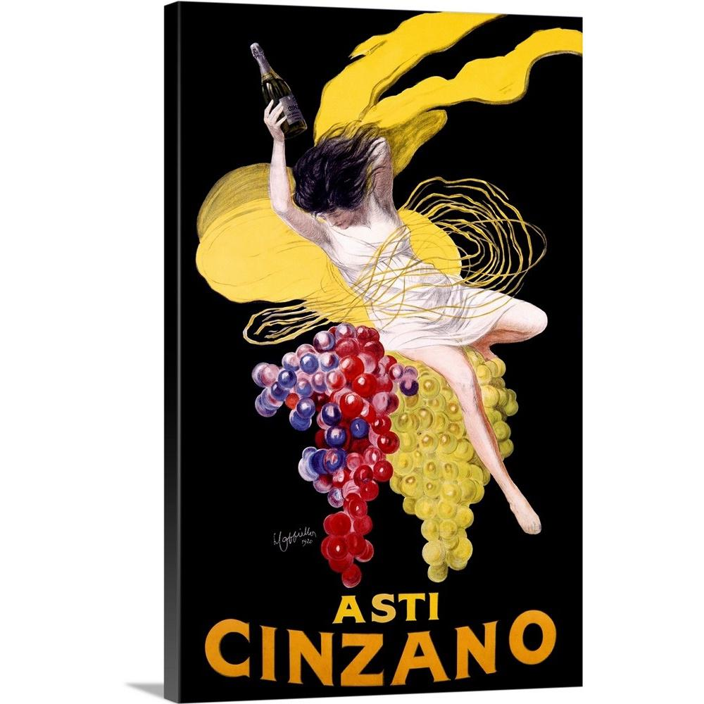 Greatbigcanvas Cinzano Asti Aperitif Wine Vintage Advertising Poster By Artehouse Canvas Wall Art 2319954 24 24x36 The Home Depot