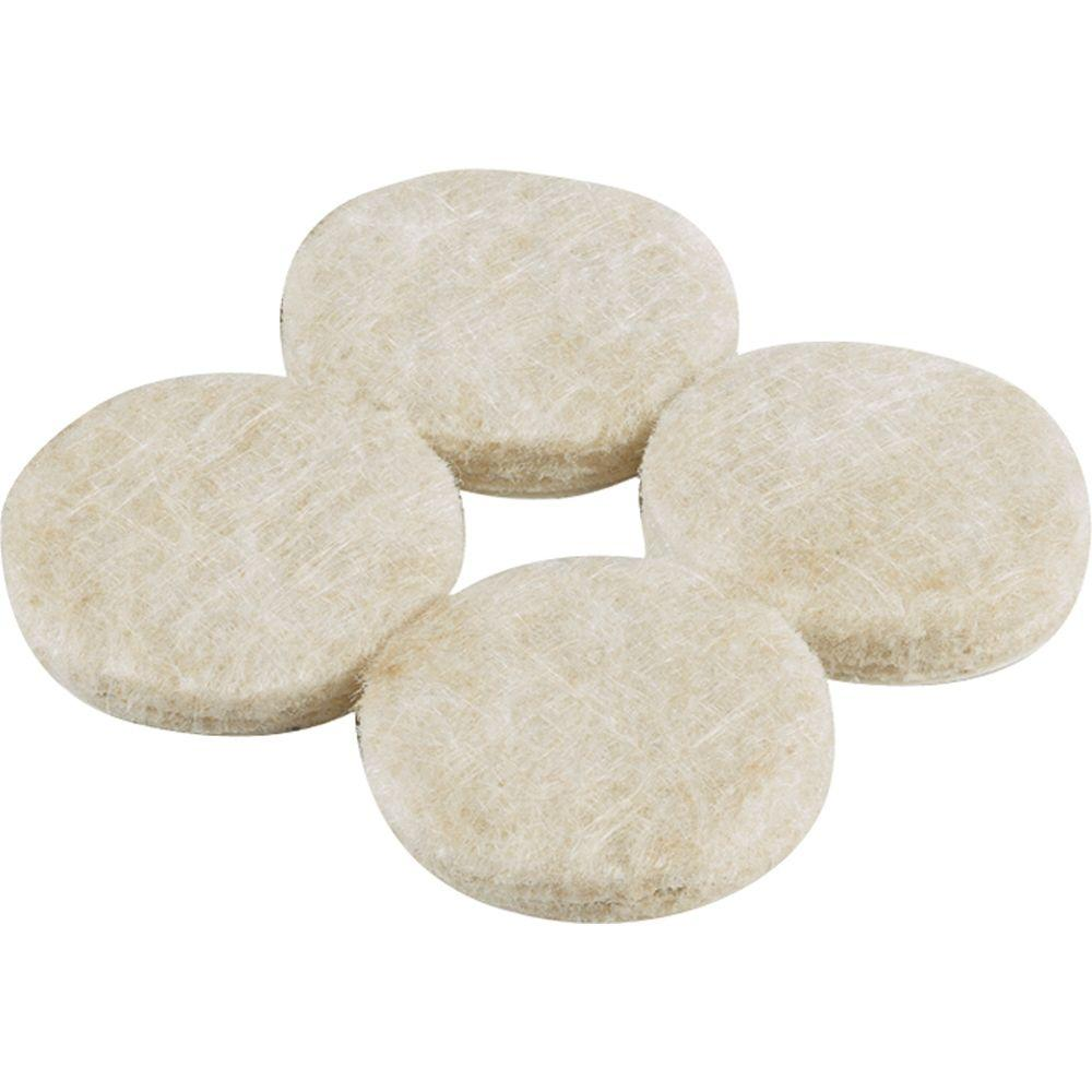 Beige Heavy Duty Self Adhesive Felt Pads