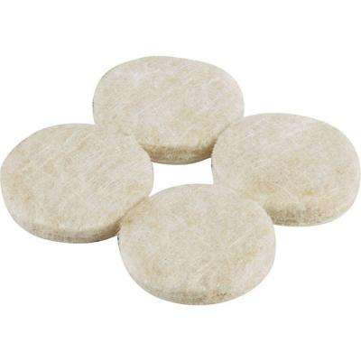 1-1/2 in. Beige Heavy-Duty Self-Adhesive Felt Pads (8 per Pack)