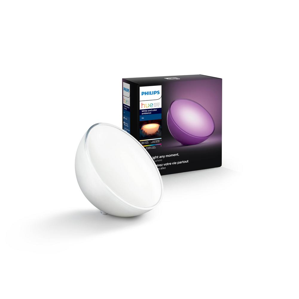 Philips Hue White and Color Ambiance Go LED Dimmable Portable Smart Wireless Table Lamp