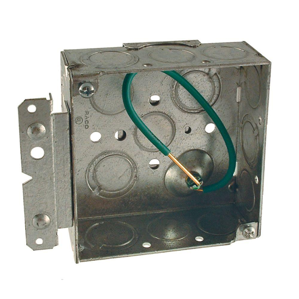 Legrand wiremold 862 series 3 4 in 15 amp round 2 outlet for 4 sq