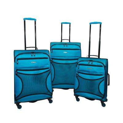 Rebel 3-Piece Teal Luggage Set