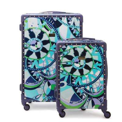 Sailing Serafina Trunk 2-Piece Navy Nested Luggage Set