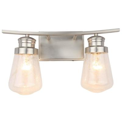 2-Light Vanity Lighting in Brushed Nickel