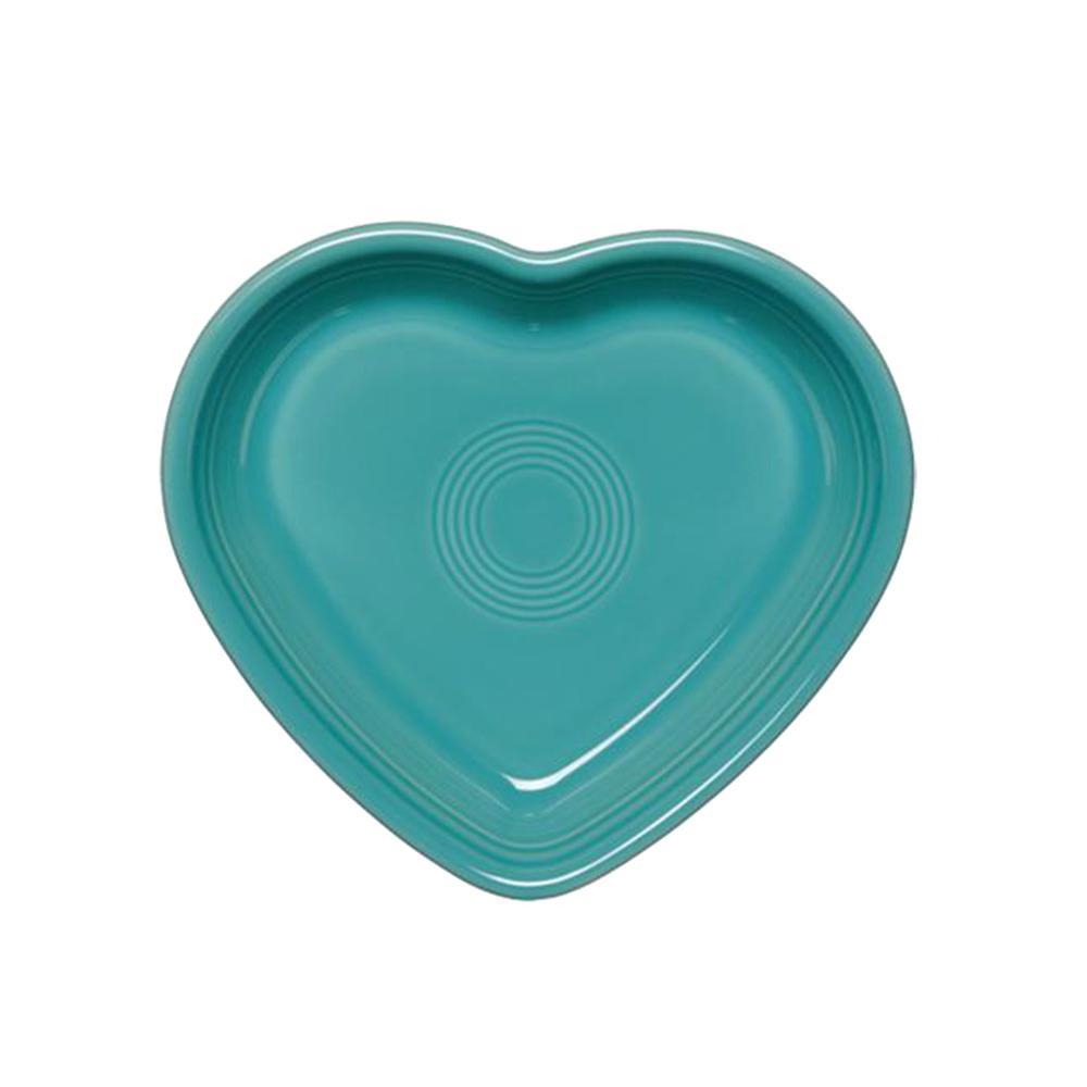 17 oz. Turquoise Medium Heart Bowl