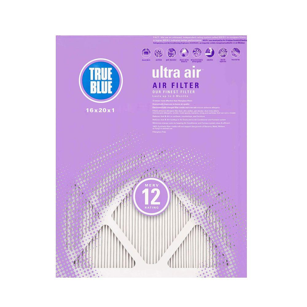 True Blue Ultra Air 14 in. x 25 in. x 1 in. Pleated Air Filter (4-Pack)