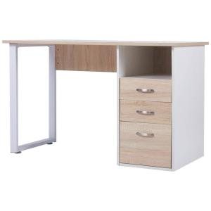 Merax Simple Design Oak Computer Desk with Cabinet and ...
