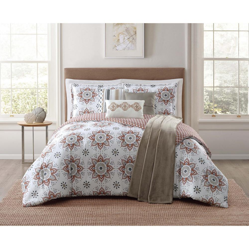 Maywood 7-Piece Brown King Comforter Set