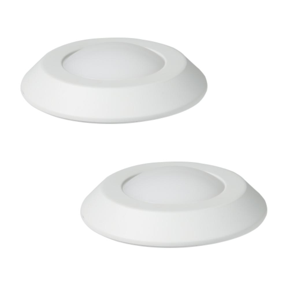 size 40 10df9 16fc9 Halo 4 in. White Integrated LED Recessed Ceiling Mount Light Trim at 3000K  Soft White Title 20 Compliant (2-Pack)