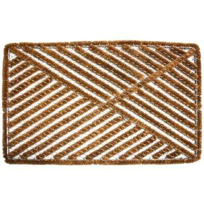 24 in. x 36 in. Boot Scraper Coir With Metal Door Mat