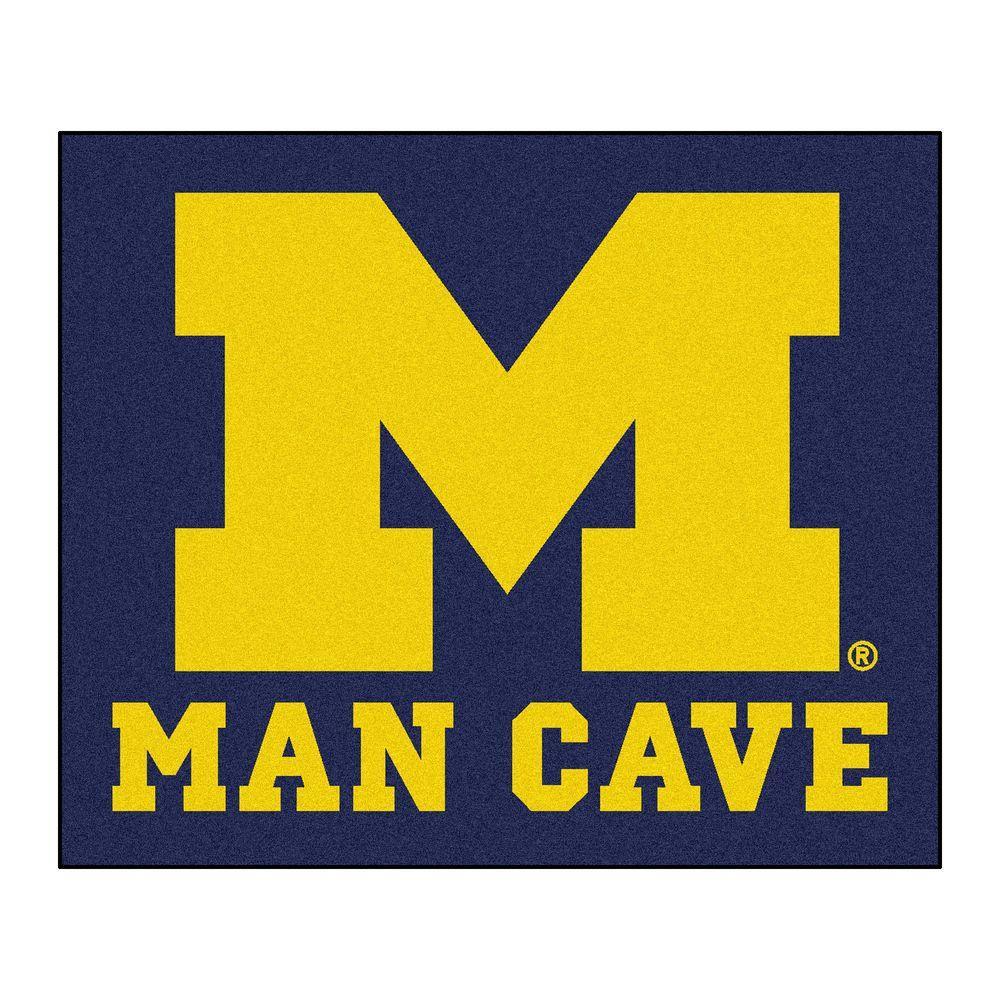 University of Michigan Blue Man Cave 5 ft. x 6 ft. Area Rug