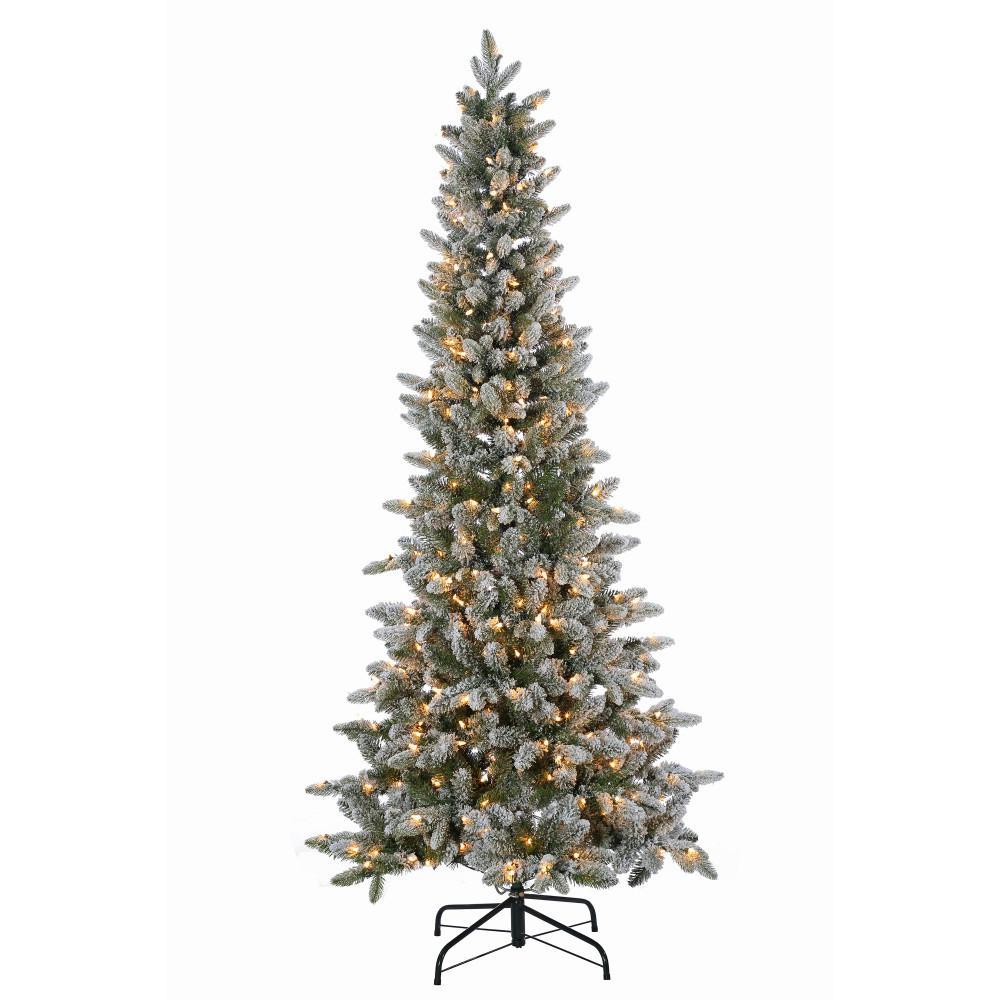6.5 ft. Pre-Lit Lightly Flocked Canyon Fir Christmas Tree