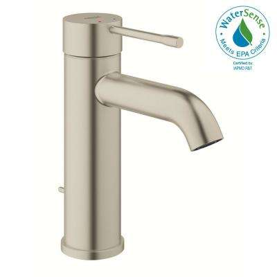 Essence New Single Hole Single-Handle 1.2 GPM Mid-Arc Bathroom Faucet in Brushed Nickel Infinity