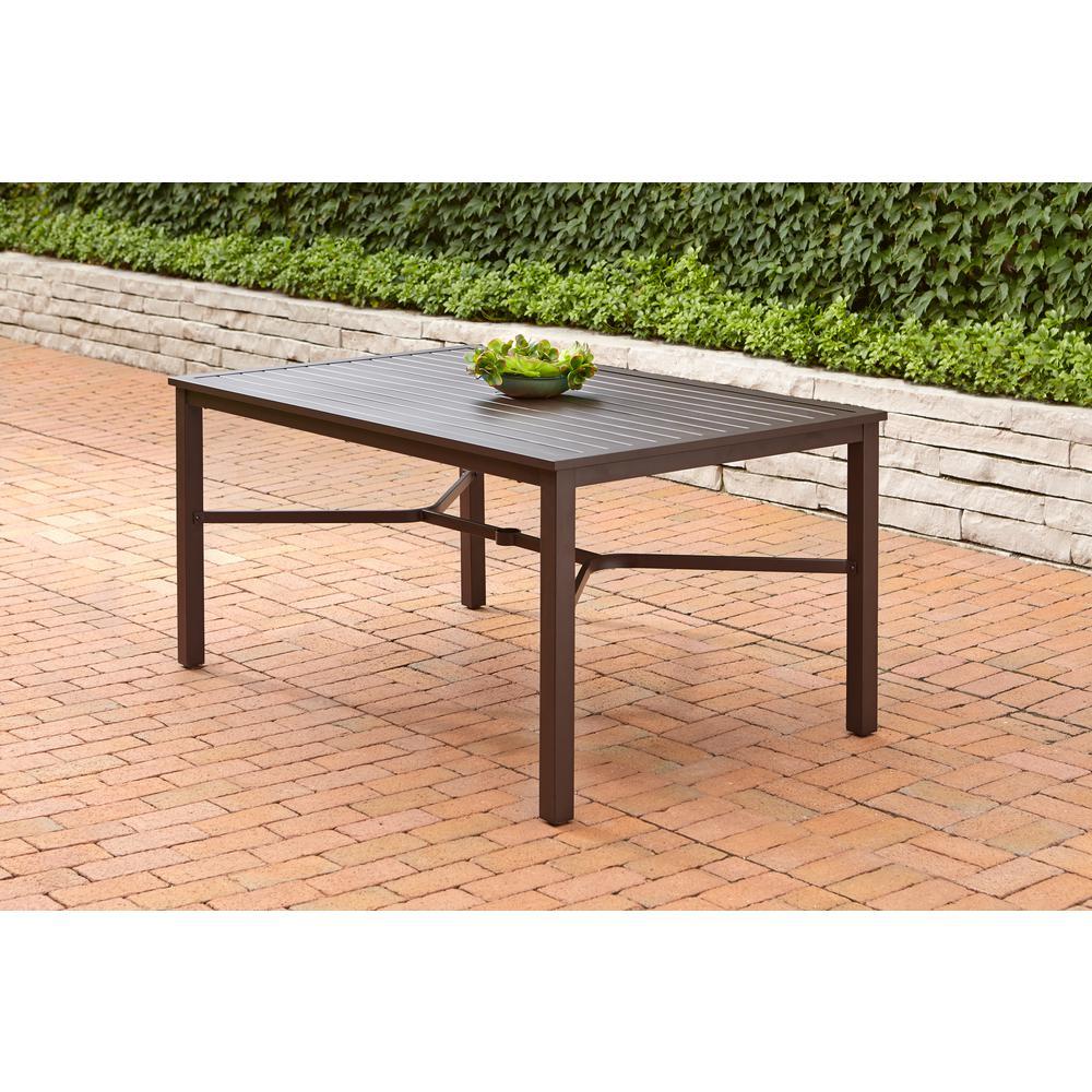 Mix and Match Rectangular Metal Outdoor Dining Table