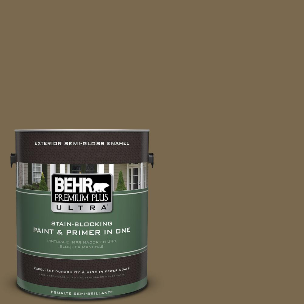 1-gal. #750D-6 Lemon Pepper Semi-Gloss Enamel Exterior Paint