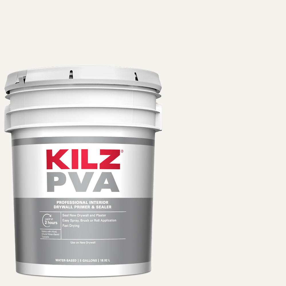 Kilz Pva 5 Gal White Interior Drywall Primer Px01005 The Home Depot