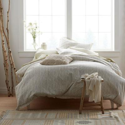 Bamboo Taupe Organic Queen Duvet Cover