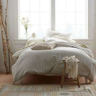 Bamboo Taupe Organic Twin Duvet Cover