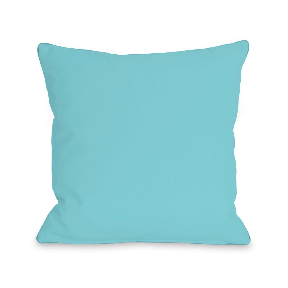 Solid Pale Aqua 16 In X Decorative Pillow 71948pl16 The Home Depot